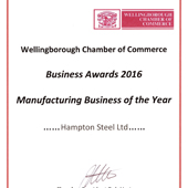 Manufacturing business of the year